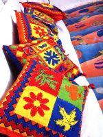 colorful cushions by crazycreepydreams