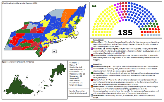 23rd New England Senatorial Election, 1970 by Dain-Siegfried