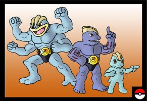 Machop Family by ZappaZee