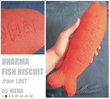 DHARMA Fish Biscuit Plushie by K-i-e-r-a