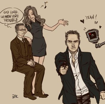 Mr Finch and Agent Reese,again by queenkong13