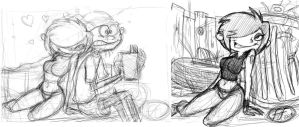 marie sketches by 14-bis