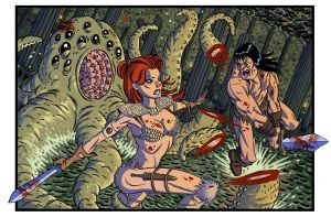 Conan and Red Sonja by RobWSales