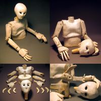 Jointed Clay Figures - Human by fightingferret