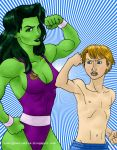 Acts of Vengeance She-Hulk and Speedball by Cesar-Hernandez