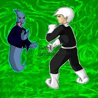 Danny Phantom vs ghost by Birdsfly25