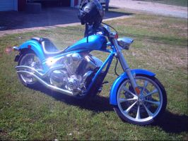 Home Made Flake Neon Blue Chopper by NationalMind