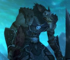 Worgen Death Knight by Vailwolf