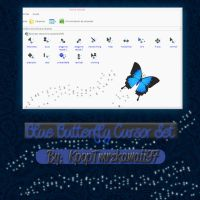 BlueButterfly Cursor Set by KpopTmrzkawaii97