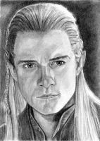 Legolas Sketch Card by khinson