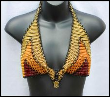 Chainmaille Cowl Halter 1 by FeMailleTurtle