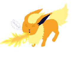 Colored Sneezy Flareon by AGirlWithDreams96