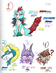 Unique Easter Adoptables (ALL OPEN) by K-Wo