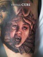 Tattoo Lucy Dracula to Bram Stoker by curi222