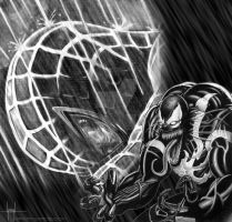 Spiderman and Venom by GraphixRob
