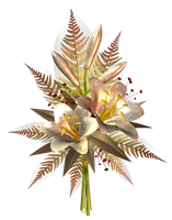 Cream Flower Decoration PNG by HanaBell1