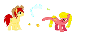 Apple Jack's Parents Apple Seed and Citrus Heart by SoraStrives