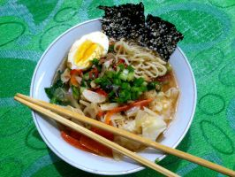 wantan noodle ramen by plainordinary1
