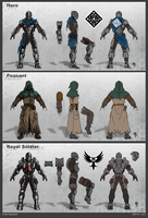 Project Oppression Character Concepts by JerryTengu