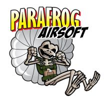 Parafrog Airsoft skeleton logo by justicefrog