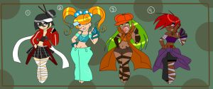 Street fighters adoptables 30pts by BrownieTheif
