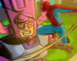 Shingeki No Spiderman by slamadin