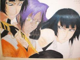 yoruichi and soi fong by NeoAngeliqueAbyss