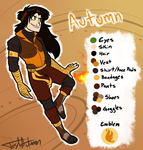 Autumn Reference Sheet [Battle Outfit] by JustAutumn
