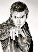 The 10th Doctor by EQzazart