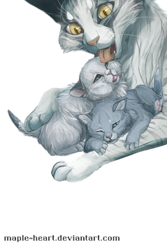 Moonflower Snowkit and Bluekit by Maple-Heart