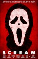Scream movie poster by billpyle