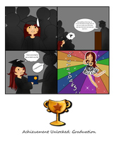 Achievement Unlocked: Graduation by Tiny-Owl