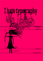 I Hate Typography by Christine-E