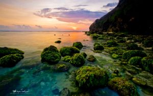 Peacefull sunset at Batu Pageh by abiiprayadi
