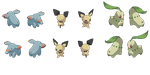 Isometric Pokemon spritesheet #1 by Nebaku