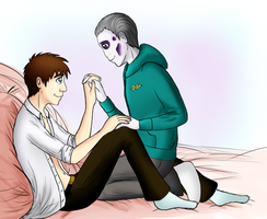 OTP Challenge 1: Holding Hands by frecleface