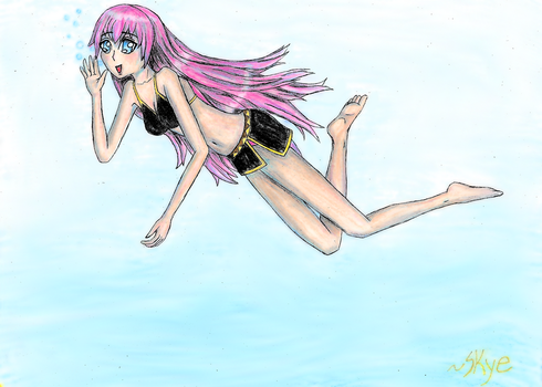 Luka Megurine Swimming by ABlackSun