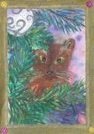 Cat Christmas card by Wintella