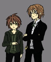 Togami and Naegi by LukaMegurine78