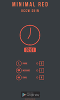 Minimal Red Theme UCCW SKIN by 8168055