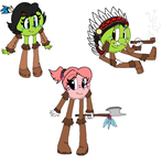 American Indians (Pac-man Characters) by angelchibivocaloid
