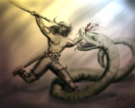 The Snake and the Spear by Mikejl