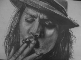 Johnny Depp by D43W1N