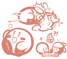 Kirby and the Not Rainbow Sketches by JamesmanTheRegenold
