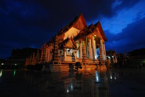 Temple at twilight by porbital