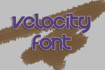 Velocity Font by supersarah089