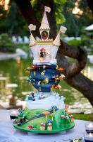 Super mario wedding cake by sagethemouse