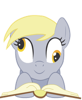 Derpy Reading by lemonLimeMan
