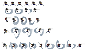 Jin (sword) sprite sheet demo by pokeczarelf