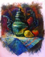 My new Still Life - a pitcher with a dragon 2016 by KateHubar